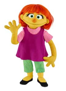Julia the autism muppet