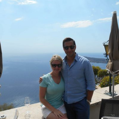 Chateau de la Chevre d'Or Hotel in Eze Village overlooking the Mediterranean during Honeymoon
