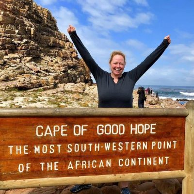 Just loving world travel and being at the Cape of Good Hope in Africa