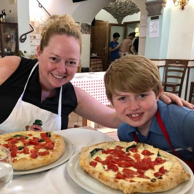 My little New Yorker even admitted that pizza in Naples, Italy is BETTER!